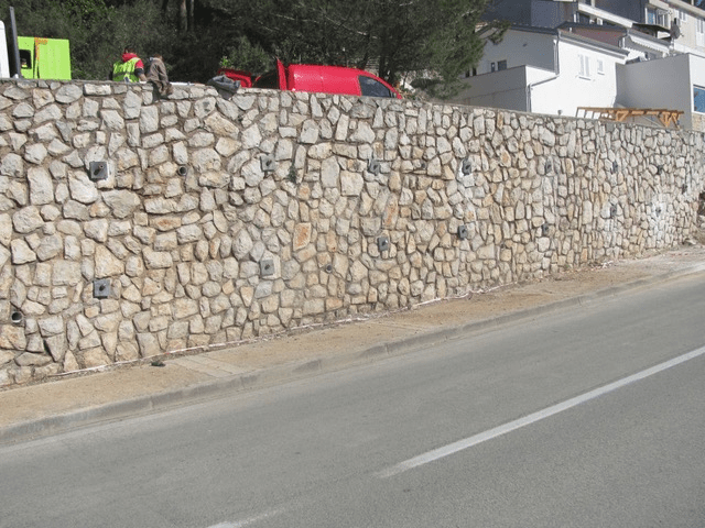 sanacija potpornog zida