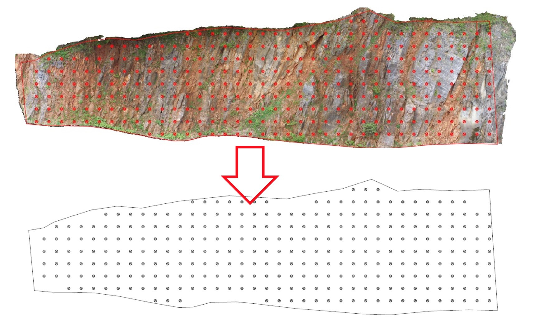3D model stijenskog pokosa