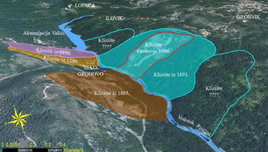 geološki hazardi u dolini rječine