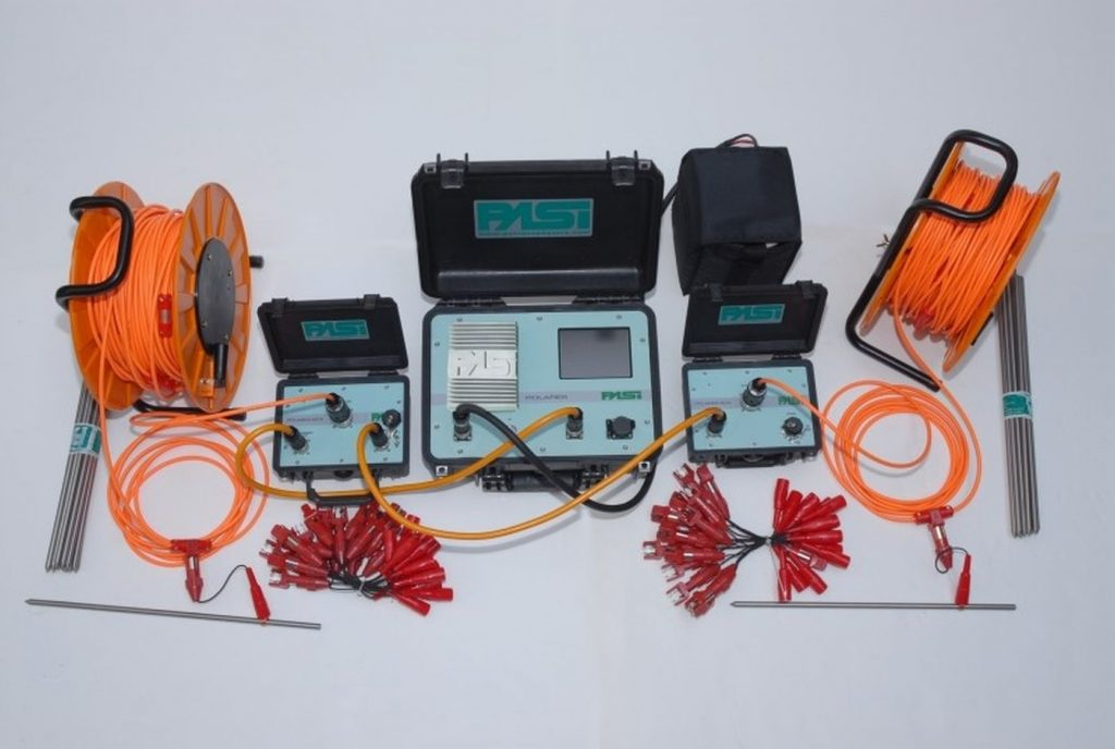 geophysical survey- measuring equipment for electical tests