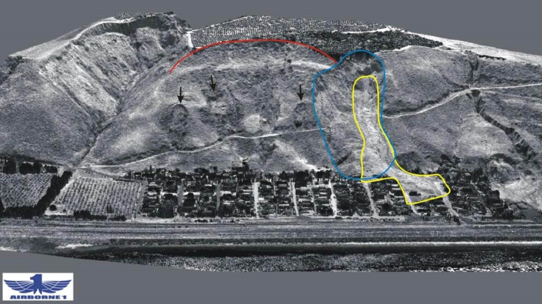 remote landslide mapping- lidar image