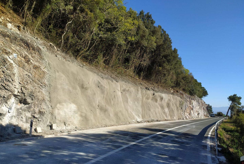 izvedena sanacija ugradnjom mlaznog betona