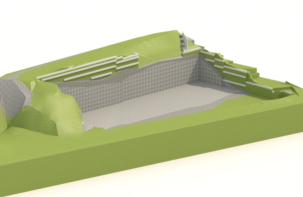 osiguranje građevne jame - 3d model