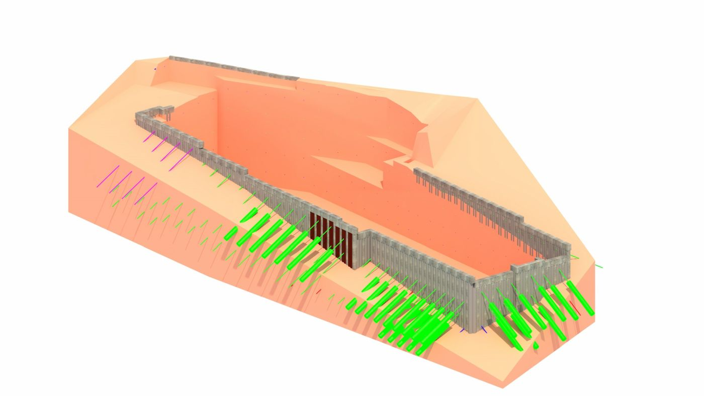 open pit protection and sealing design - 3D model