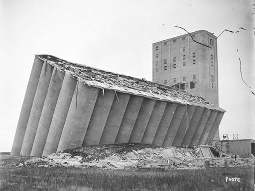 slom temeljnog tla - transcona grain elevator