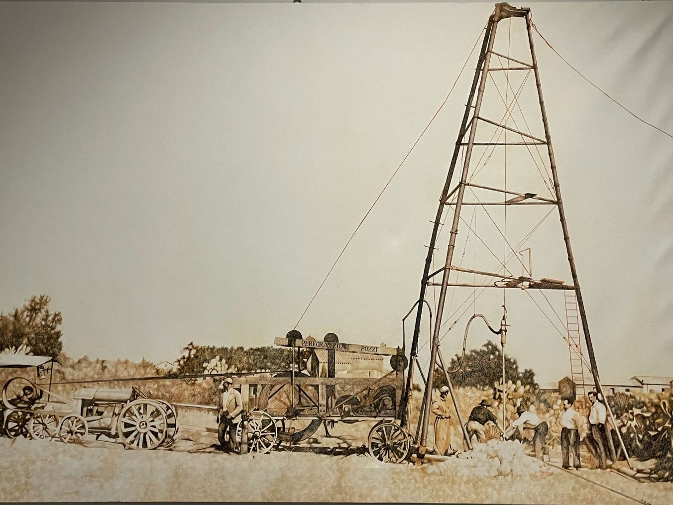 the first drilling machine